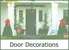 christmas door decorating decorations