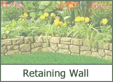 raised retaining wall garden landscape
