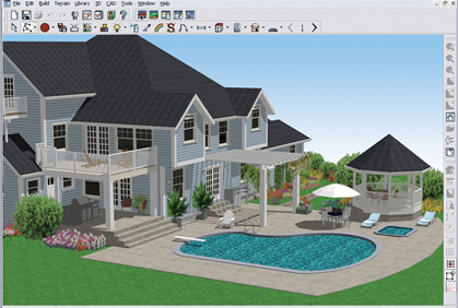 Free building design software programs 3d download House construction design software free