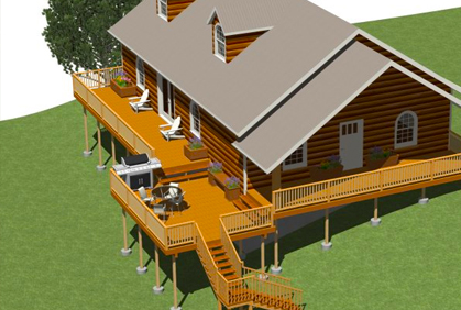 Makita shop vac wood deck design software freeware for Wood house design software