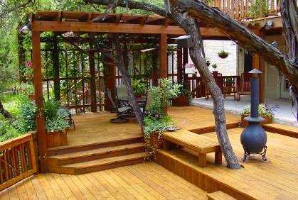 Outdoor Deck Designs Plans Pictures Designer Software - Backyard deck ideas
