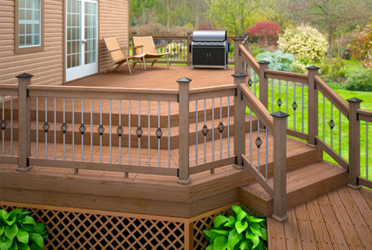 tamko deck design ideas the luxury deck rendering midcentury deck - Backyard Deck Design Ideas