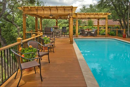 Top pool deck ideas plans pictures 2017 for Best timber to use for decking around a pool