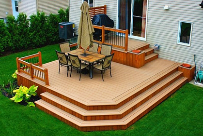 Pictures of small deck designs ideas plans building t Small deck ideas
