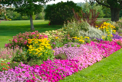 Wonderful Garden Design With Flower Garden Bed Designs Ideas Layouts And Pictures  With Landscape Bushes From Diyhomedesignideas