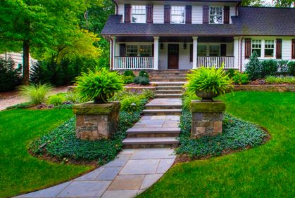 Best Front Yard Landscaping Pictures & Designs - Inpressive Front Garden Layouts