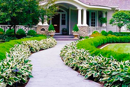 Photos front yard landscape ideas designs plans for Simple diy garden designs