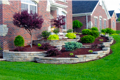 Front yard ideas pictures and designs for shrubs bushes and landscaping plans.