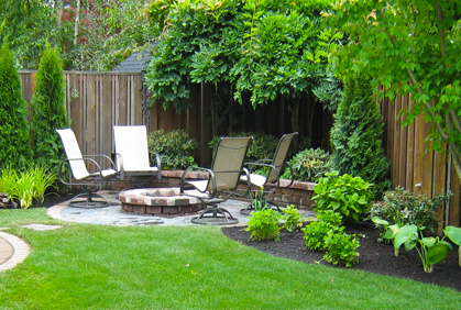 Sitting area landscaping ideas for small yards