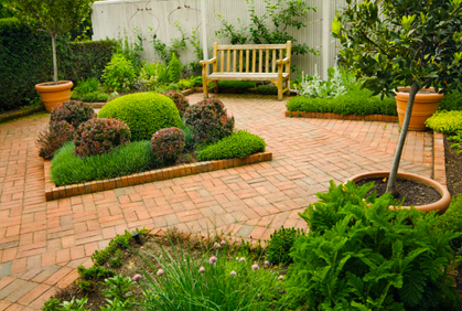 Brick patio landscaping ideas for small yards