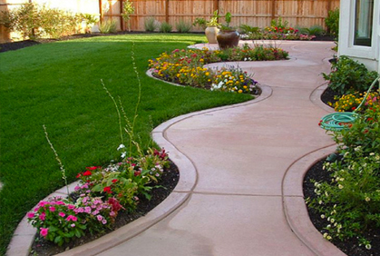 Walkway and small yard landscaping ideas