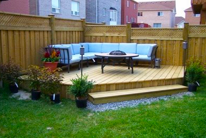 small yard deck landscaping ideas