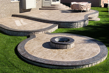 Stamped Concrete Patio Designs Ideas and Pictures