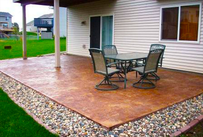 Concrete Patio Design Ideas patio design ideas concrete patio sage ecological landscapes los osos ca 2015 Best Stamped Concrete Patio Designs Ideas Pictures Design Ideas
