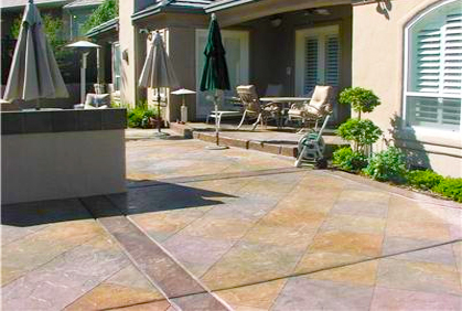 most popular outdoor best stamped concrete patio designs ideas pictures photos with popular design ideas and - Concrete Patio Design Ideas