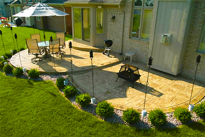Concrete Patio Designs Ideas Pictures And Plans - Backyard concrete patio ideas