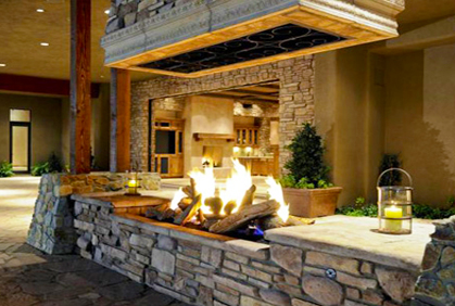 outdoor patio ideas with fireplace how to build an outdoor stacked stone fireplace patio ideasbackyard outdoor - Outdoor Patio Ideas