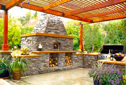 Build outdoor kitchen designs ideas plans pictures
