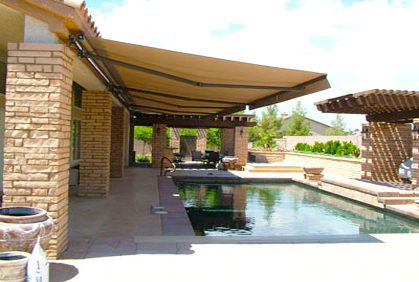 best retractable awning ideas for outdoor deck patios