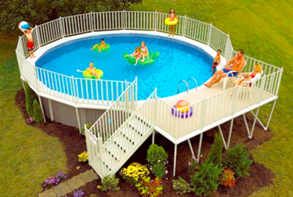 Simple Above Ground Pool Landscaping Ideas best above ground pool designs ideas and pictures 2017