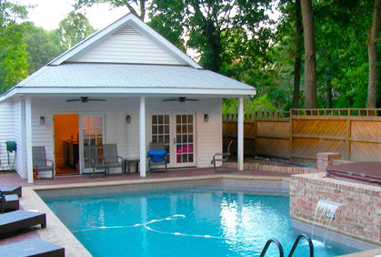 custom pool house design plans ideas pictures