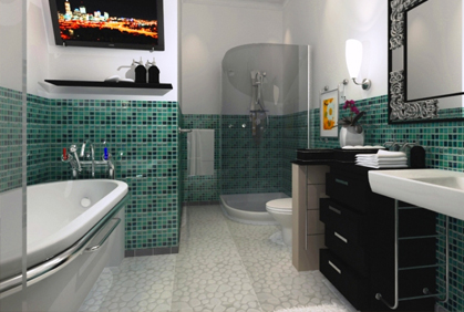 Online pictures of bathroom decorations bath decor with small green wall tiles for smaller bathroom size