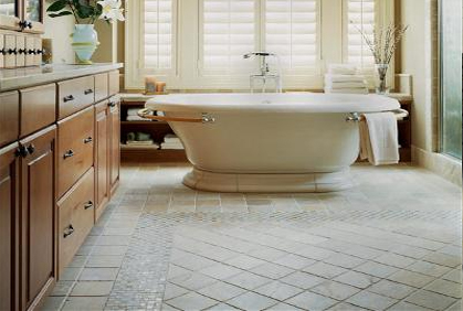 Bathroom flooring ideas tiling bamboo heated vin for Bamboo bathroom flooring ideas