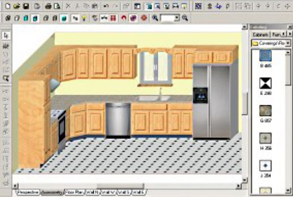 Free cabinet layout software online design tools Kitchen design diy software