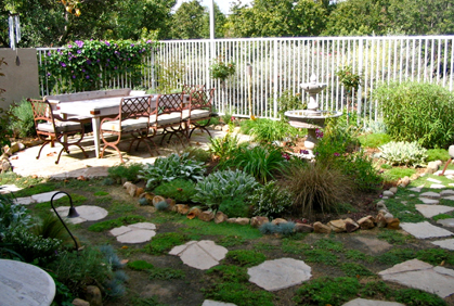 Simple and easy backyard makeover ideas landscape designs landscaping plans center garden large patio table