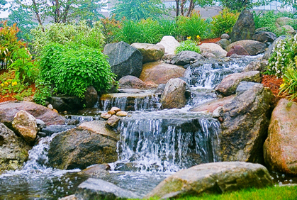Top rated 2015 reviews pictures of most popular simple landscaping design ideas backyard waterfall water features rocks stones