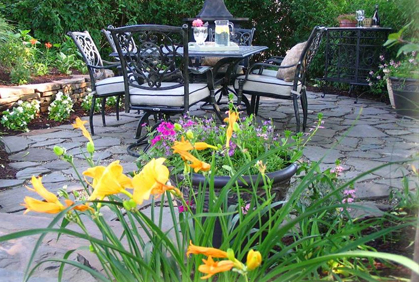 Simple and easy pictures of most popular simple landscaping design ideas backyard patio yellow flowers makeover