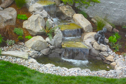 Backyard waterfall ideas pictures simple diy plans for Homemade pond ideas