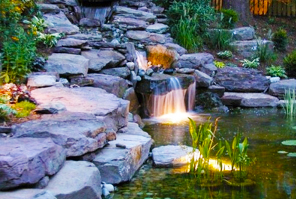 Backyard waterfall ideas pictures simple diy plans for Garden waterfalls do it yourself