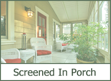 screened-in front porch ideas