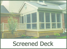 Screened In Deck Patio Designs
