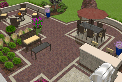 Free patio design software tool 2017 online planner for Patio layouts and designs