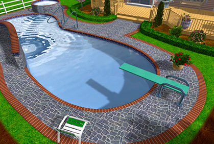 Free swimming pool design software online tool for Pool drawing software