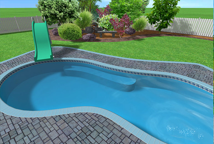 Free swimming pool design software online tool for Pool plans online