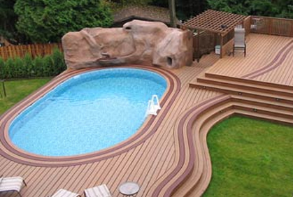 Above Ground Pool Deck Design Pictures Ideas