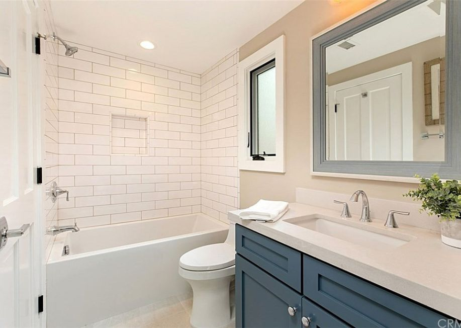 White Subway Tile Bathroom Shower