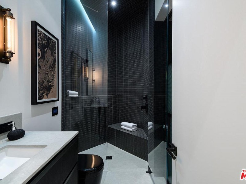 Black and White Tile Bathroom